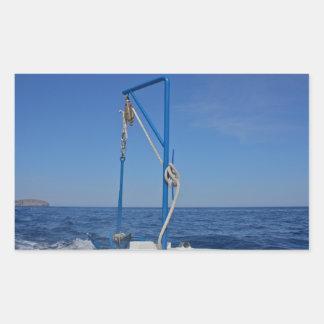 Etiquetas do guincho do barco adesivo retangular