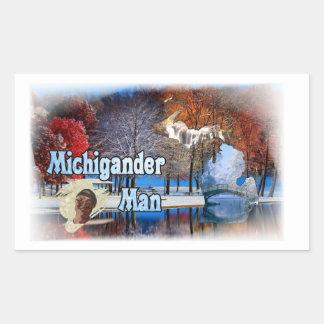 Etiquetas do homem de Michigander!