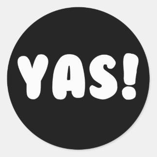 Etiquetas do impressão de YAS