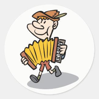 Etiquetas do jogador do acordeão de piano,