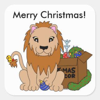 Etiquetas do leão do Natal