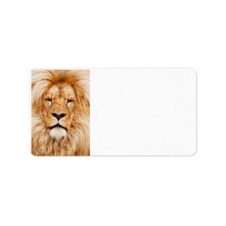 Etiquetas do leão etiqueta de endereço
