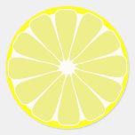 Etiquetas do limão adesivos em formato redondos