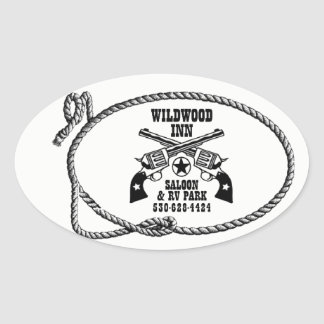 Etiquetas do logotipo da pensão de Wildwood