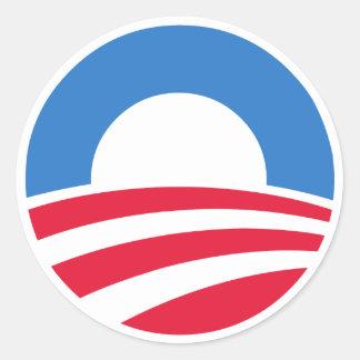 Etiquetas do logotipo de Obama Adesivos Em Formato Redondos
