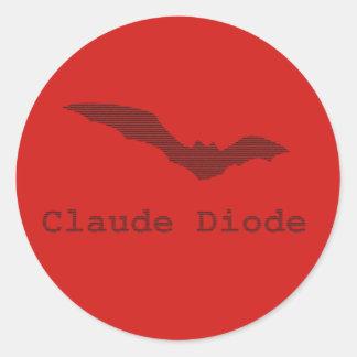 Etiquetas do logotipo do bastão do diodo de Claude