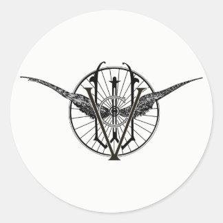 Etiquetas do logotipo do clube da roda de Vermont
