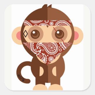 Etiquetas do macaco