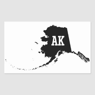 Etiquetas do mapa AK do estado de Alaska do