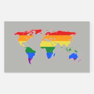 Etiquetas do mapa da bandeira do arco-íris