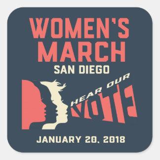 Etiquetas do março San Diego das mulheres