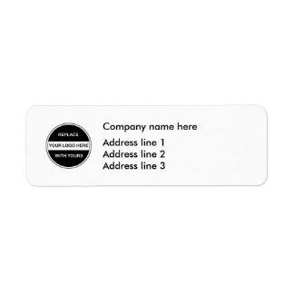 Etiquetas do modelo do endereço do logotipo do etiqueta endereço de retorno