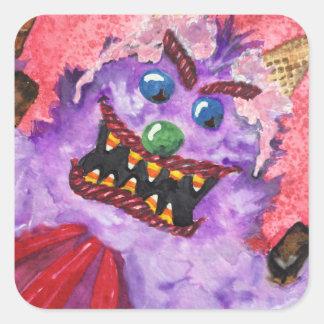 Etiquetas do monstro dos doces, 20 por a página adesivo quadrado
