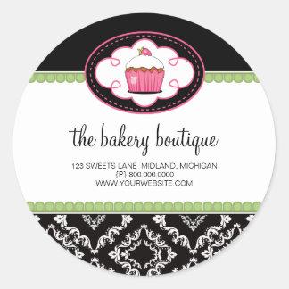 Etiquetas do negócio do boutique da padaria adesivo