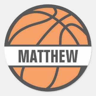 Etiquetas do nome de etiqueta do basquetebol para