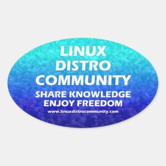 Etiquetas do Oval da comunidade de Linux Distro Adesivo Oval