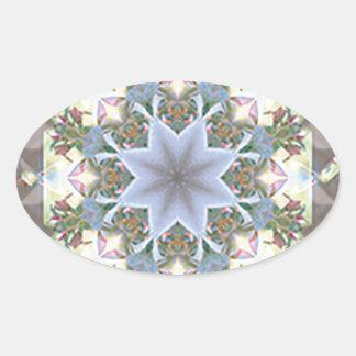 Etiquetas do Oval da mandala da estrela Adesivo Oval