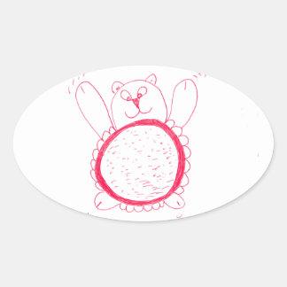 Etiquetas do Oval do urso do girassol
