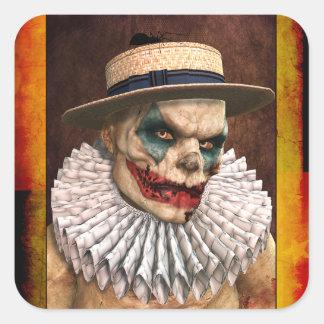 Etiquetas do palhaço de circo do zombi