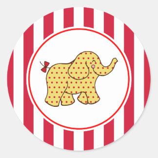 Etiquetas do partido do elefante do circo do