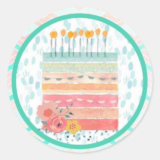 Etiquetas do partido do favor do casamento do bolo