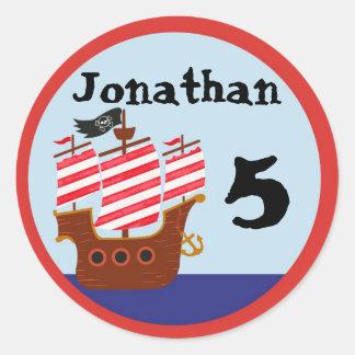 Etiquetas do partido do pirata adesivo redondo