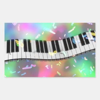 etiquetas do piano do arco-íris