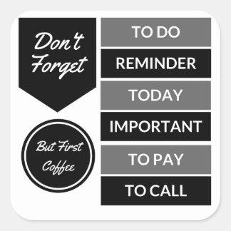 Etiquetas do planejador: Lembrete diário