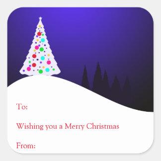 Etiquetas do presente da árvore de Natal