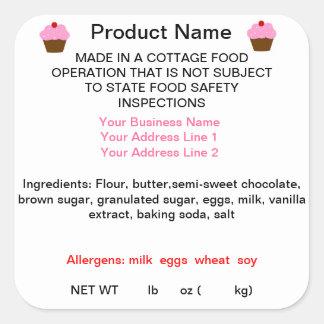 Etiquetas do produto da lei de comida da casa de