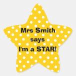 Etiquetas do professor de Personalizable - eu sou Adesivos Estrelas