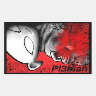 Etiquetas do Promo de Pl3bian Adesivo Retangular
