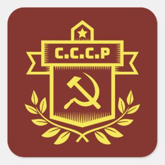 Etiquetas do quadrado do emblema de CCCP