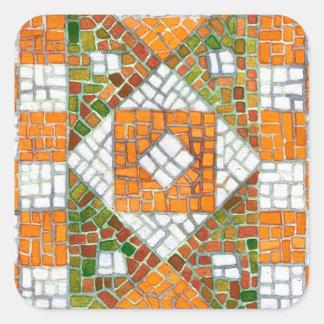 Etiquetas do quadrado do mosaico do outono