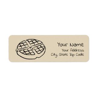 Etiquetas do retorno do endereço do Waffle do dia