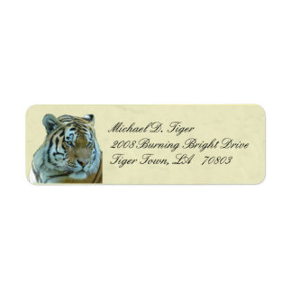 Etiquetas do retorno do tigre