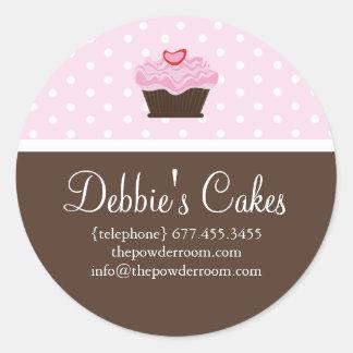 Etiquetas do selo do envelope do cupcake adesivo