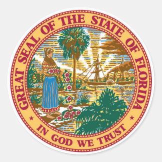 Etiquetas do selo do estado de Florida Adesivo
