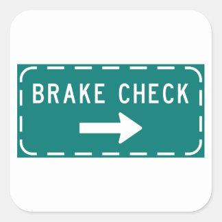 Etiquetas do sinal da verificação do freio