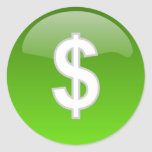 etiquetas do sinal de dólar adesivo