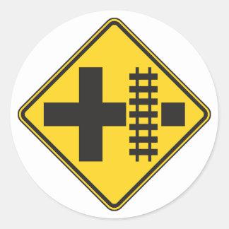 Etiquetas do sinal de estrada do cruzamento