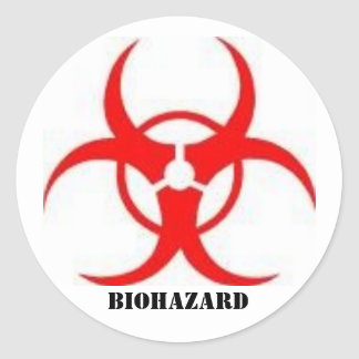 etiquetas do sinal do biohazard adesivo