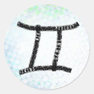 Etiquetas do sinal do zodíaco do horóscopo dos