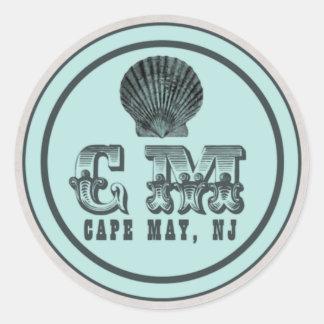 Etiquetas do Tag da praia de Cape May NJ do estilo
