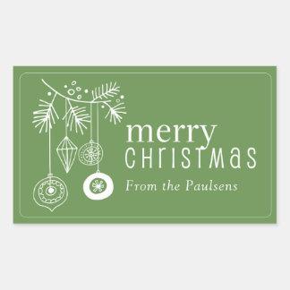 Etiquetas do Tag do presente do Natal - ornamento
