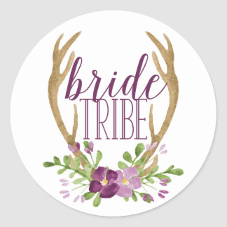 Etiquetas do tribo da noiva de Boho