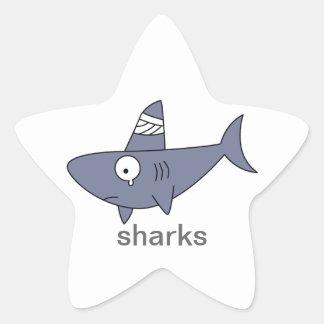 Etiquetas do tubarão adesito estrela