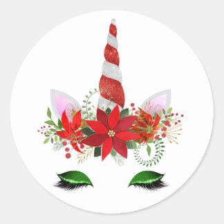 Etiquetas do unicórnio do Natal