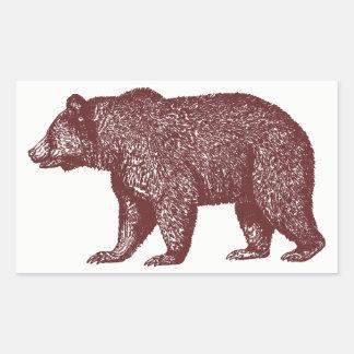 Etiquetas do urso de Brown