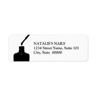 Etiquetas do verniz para as unhas etiqueta endereço de retorno